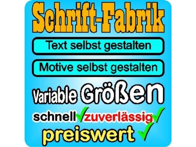 Wunschtext Autoaufkleber Schriftzug selbst gestalten